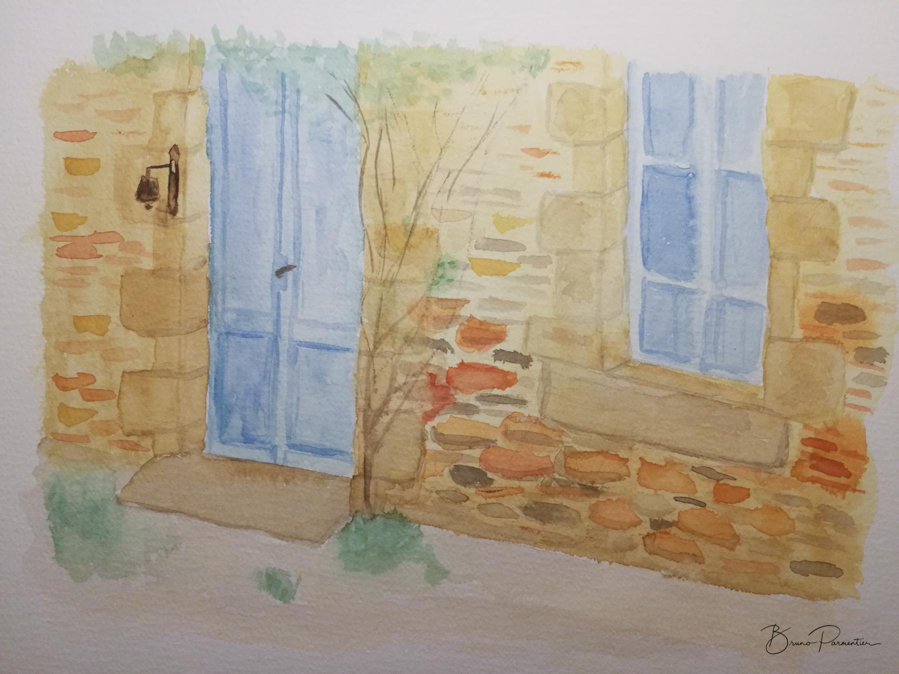 Maison ancienne (aquarelle - 4 février 2019)