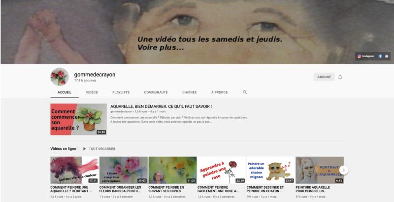 Chaine Youtube GommeDeCrayon